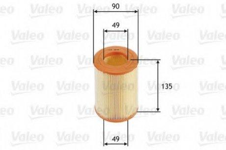 585681 Valeo Фильтр воздушный (круглый)