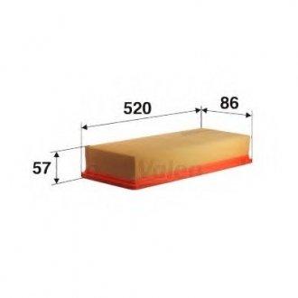 585323 Valeo Фильтр воздушный (плоский)