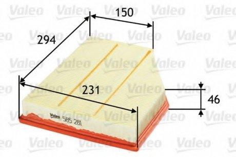 585281 Valeo Фильтр воздушный (плоский)