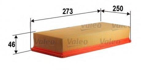 585224 Valeo Фильтр воздушный (плоский)