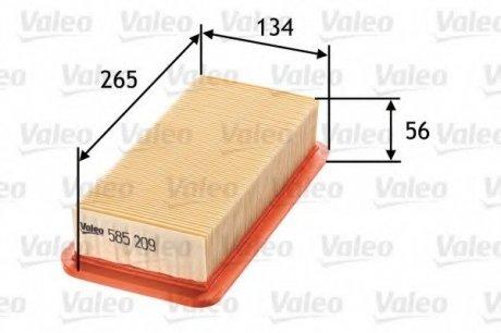 585209 Valeo Фильтр воздушный (плоский)