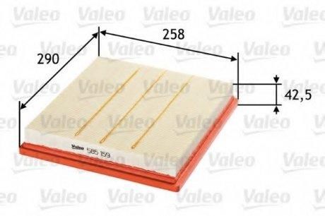 585159 Valeo Фильтр воздушный (плоский)