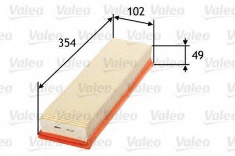 585114 Valeo Фильтр воздушный (плоский)
