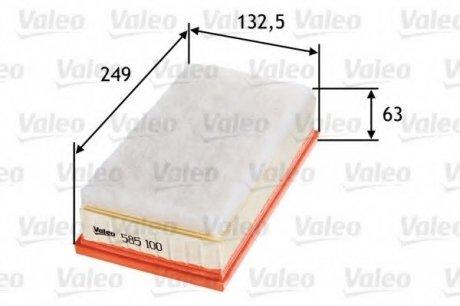 585100 Valeo Фильтр воздушный (плоский)