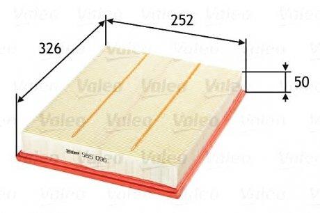 585096 Valeo Фильтр воздушный (плоский)