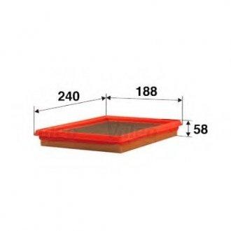 585085 Valeo Фильтр воздушный (плоский)