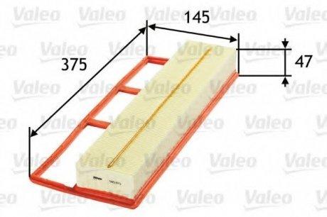 585075 Valeo Фильтр воздушный (плоский)