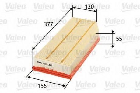 585066 Valeo Фильтр воздушный (плоский)