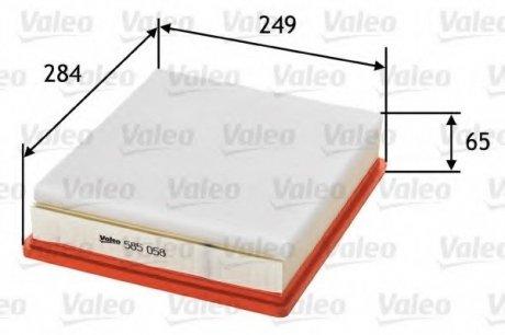 585058 Valeo Фильтр воздушный (плоский)