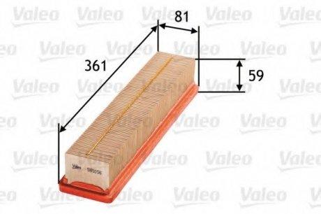 585056 Valeo Фильтр воздушный (плоский)
