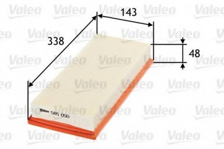 585050 Valeo Фильтр воздушный (плоский)