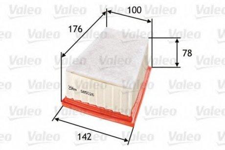 585026 Valeo Фильтр воздушный (плоский)