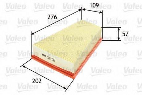 585019 Valeo Фильтр воздушный (плоский)