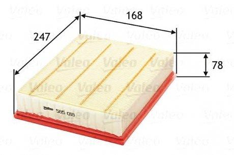 585018 Valeo Фильтр воздушный (плоский)