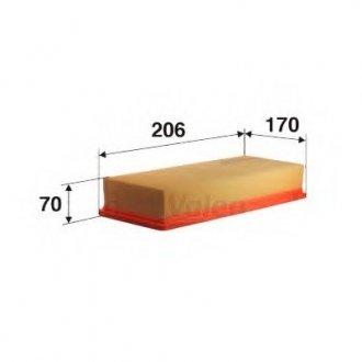 585011 Valeo Фильтр воздушный (плоский)