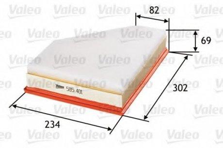 585401 Valeo Фильтр воздушный (плоский)