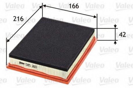 585260 Valeo Фильтр воздушный (плоский)