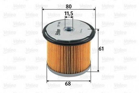 587900 Valeo Фильтр топливный (вставка)