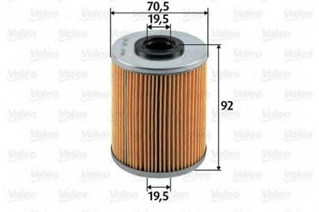 587902 Valeo Фильтр топливный (вставка)