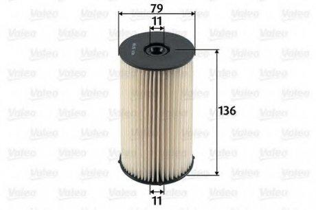 587904 Valeo Фильтр топливный (вставка)