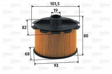 587905 Valeo Фильтр топливный (вставка)