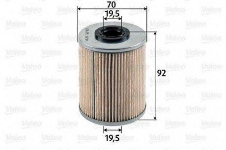 587907 Valeo Фильтр топливный (вставка)