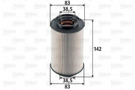 587909 Valeo Фильтр топливный (вставка)