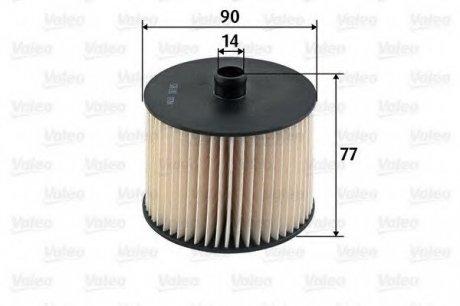587915 Valeo Фильтр топливный (вставка)