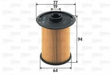 587918 Valeo Фильтр топливный (вставка)
