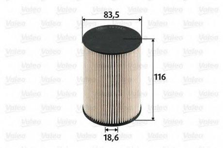 587919 Valeo Фильтр топливный (вставка)