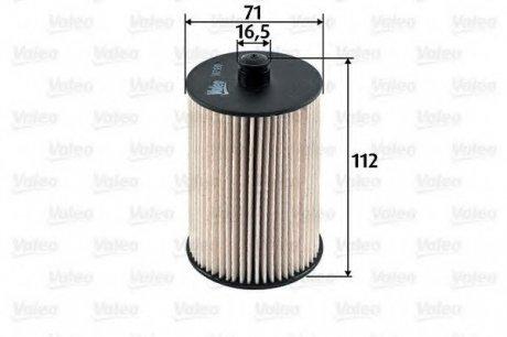587930 Valeo Фильтр топливный (вставка)