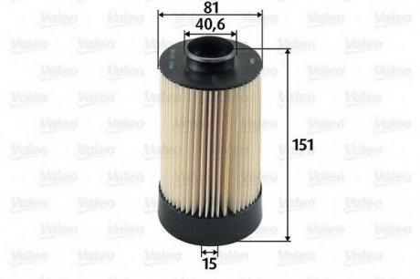 587935 Valeo Фильтр топливный (вставка)