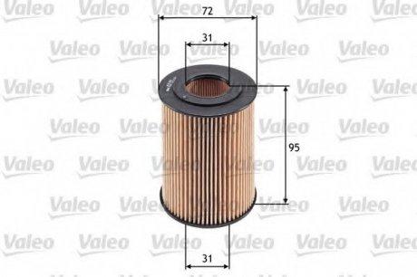 586548 Valeo Фильтр масляный (вставка)