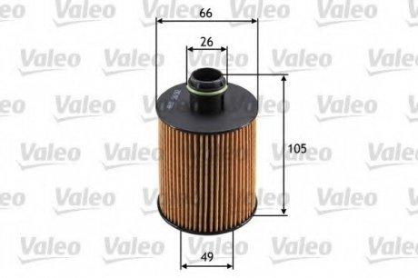 586562 Valeo Фильтр масляный (вставка)