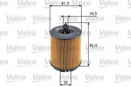586563 Valeo Фильтр масляный (вставка)