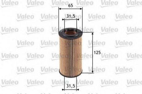 586552 Valeo Фильтр масляный (вставка)