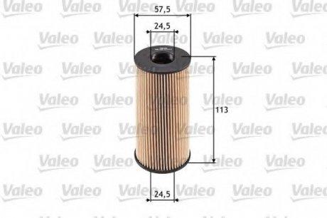 586529 Valeo Фильтр масляный (вставка)