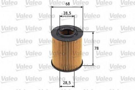 586528 Valeo Фильтр масляный (вставка)