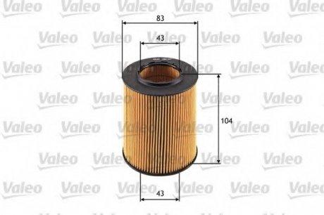 586527 Valeo Фильтр масляный (вставка)