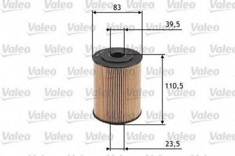 586526 Valeo Фильтр масляный (вставка)