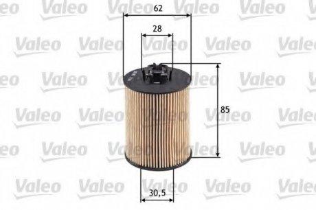 586519 Valeo Фильтр масляный (вставка)