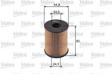 586516 Valeo Фильтр масляный (вставка)