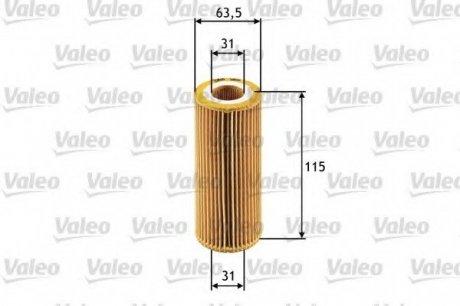 586511 Valeo Фильтр масляный (вставка)