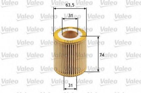 586510 Valeo Фильтр масляный (вставка)