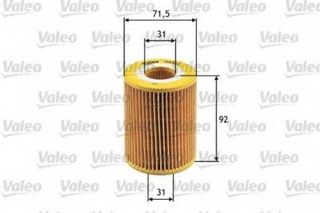 586504 Valeo Фильтр масляный (вставка)
