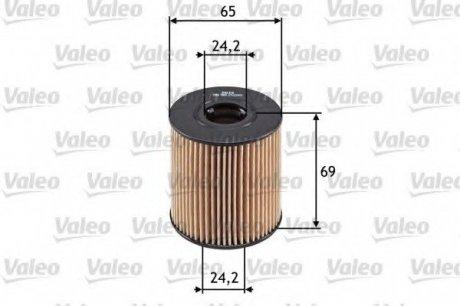 586503 Valeo Фильтр масляный (вставка)