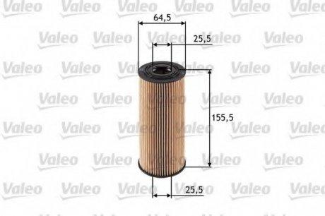 586502 Valeo Фильтр масляный (вставка)