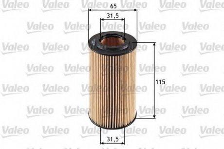 586501 Valeo Фильтр масляный (вставка)