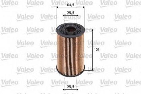 586533 Valeo Фильтр масляный (вставка)