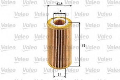 586505 Valeo Фильтр масляный (вставка)